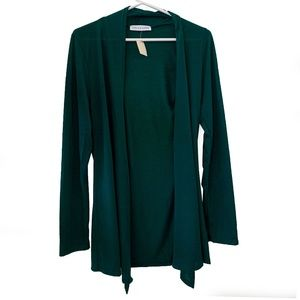 Chris & Carol Forest Green Cardigan